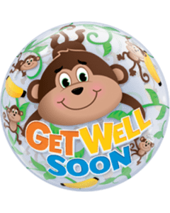 Bubble ballon Get Well Monkeys.