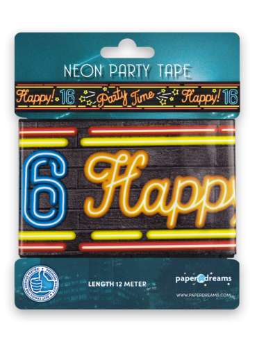 Neon party tape - 16
