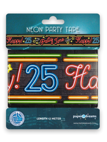 Neon party tape - 25