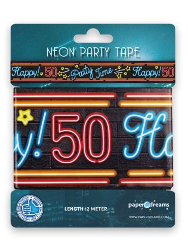 Neon party tape - 50