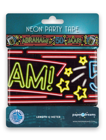 Neon party tape - Abraham 50