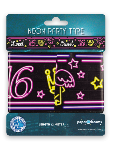 Neon party tape - Sweet 16