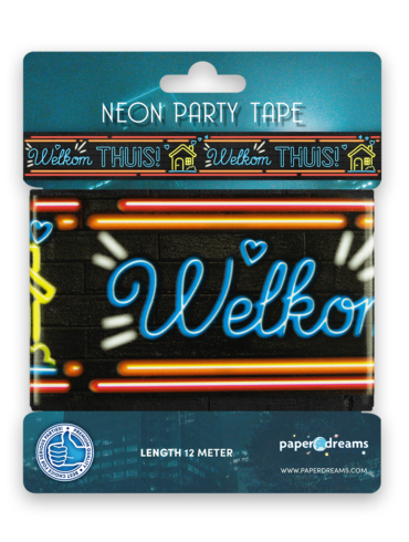 Neon party tape - Welkom thuis