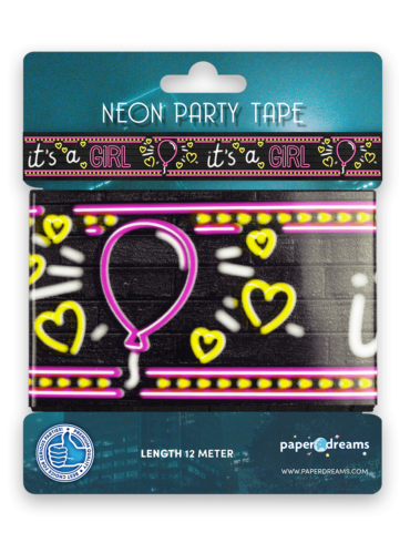 Neon party tape - It's a girl!