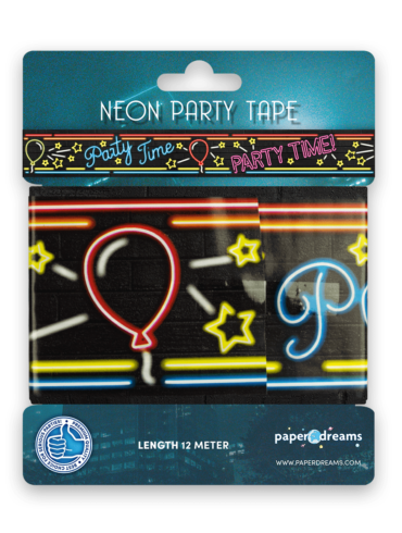 Neon party tape - Party time