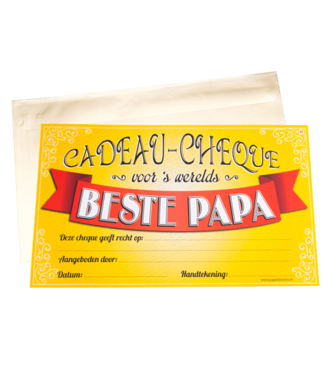 Gift Cheque - Papa