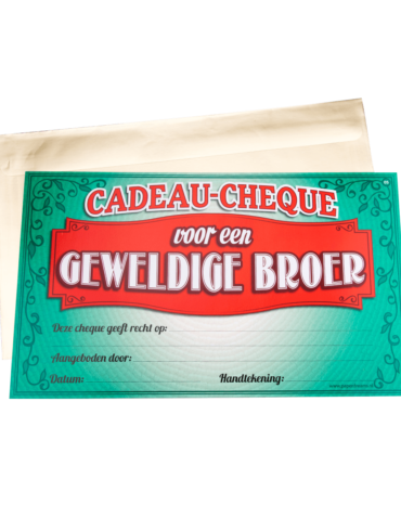 Gift Cheque - Broer