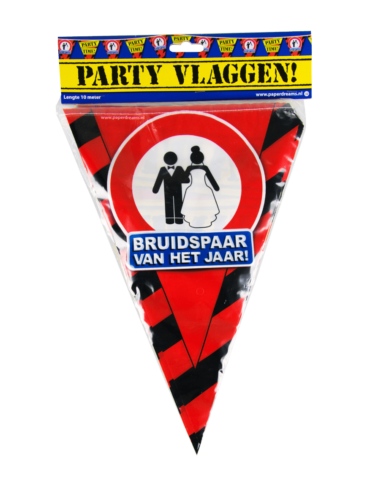 Party Vlaggen - bruidspaar